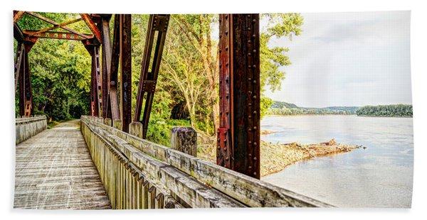 Katy Trail Near Coopers Landing Beach Towel