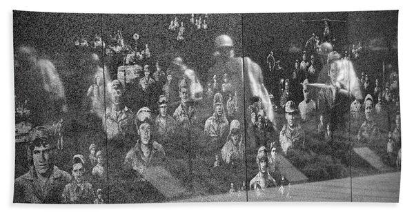 Beach Towel featuring the photograph Korean War Veterans Memorial by Jemmy Archer