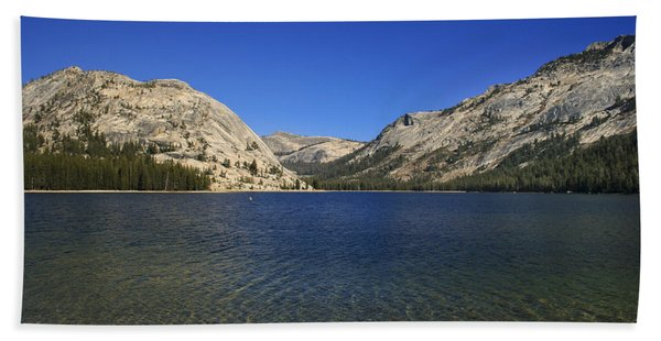 Beach Towel featuring the photograph Lake Ellery Yosemite by David Millenheft
