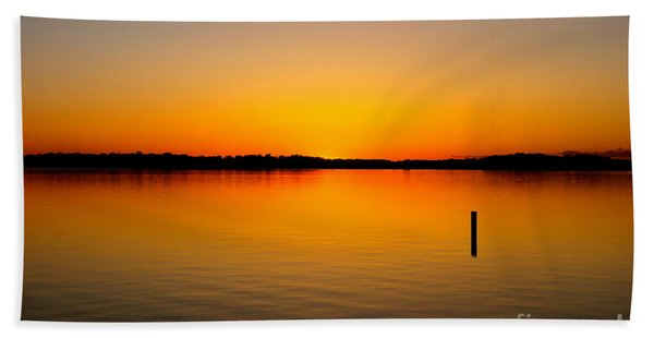 Beach Towel featuring the photograph Lake Independence Sunset by Jacqueline Athmann