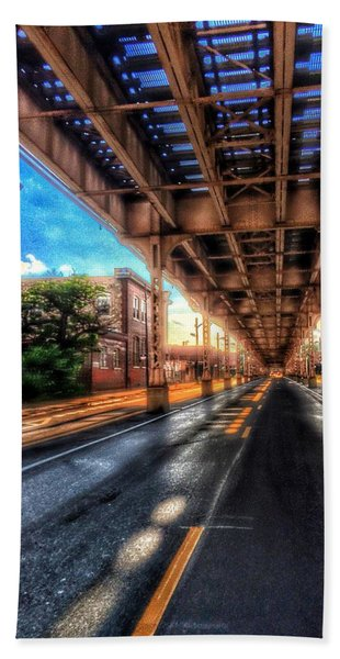 Lake Street El Tracks Beach Towel