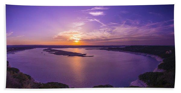 Lake Travis Sunset Beach Towel