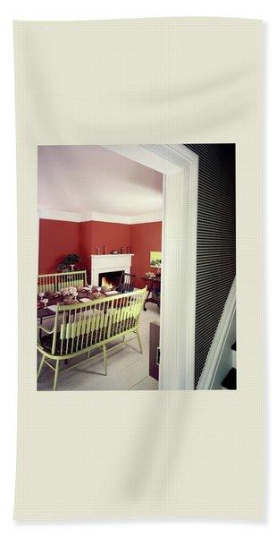 Laurens W. Macfarland's Dining Room Beach Towel