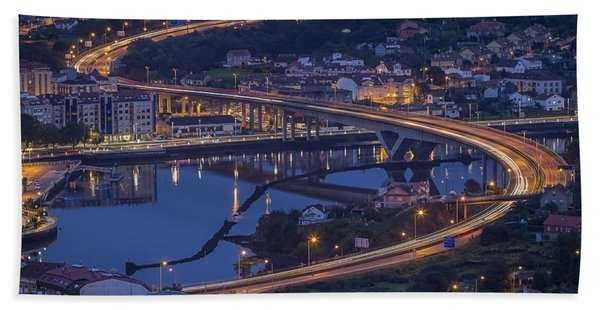 Lerez River Pontevedra Galicia Spain Beach Towel