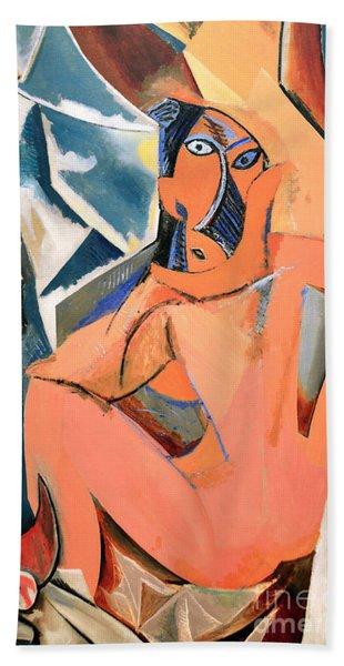 Les Demoiselles D'avignon Picasso Detail Beach Towel