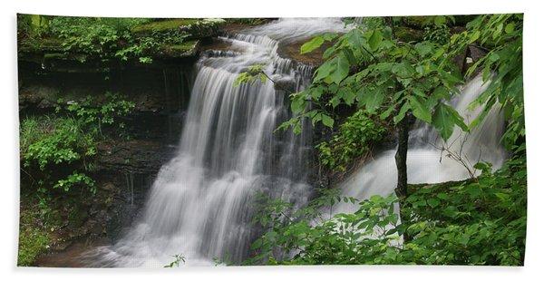 Lichen Falls Ozark National Forest Beach Towel