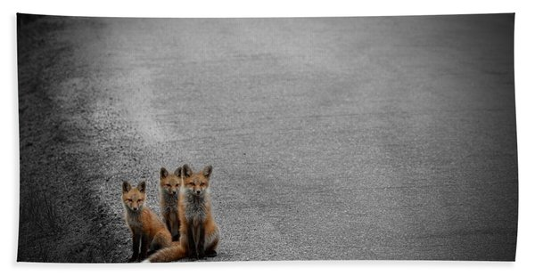 Life Is An Unknown Highway Beach Towel