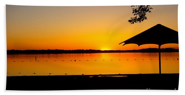Beach Towel featuring the photograph Lifeguard Off Duty by Jacqueline Athmann