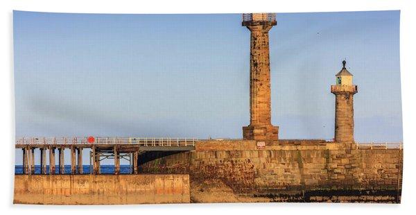 Lighthouses On The Piers Beach Towel