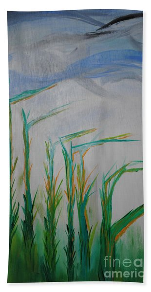 Lillies Of The Creek Beach Towel