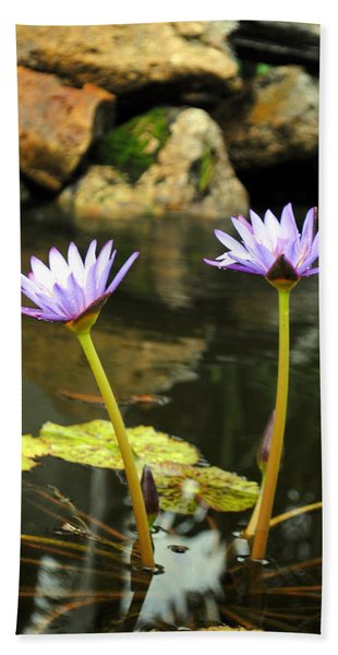 Lillies Of The Pond Beach Towel