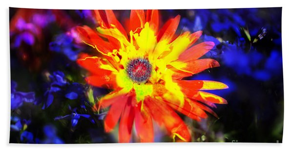 Beach Towel featuring the photograph Lily In Vivd Colors by Gunter Nezhoda