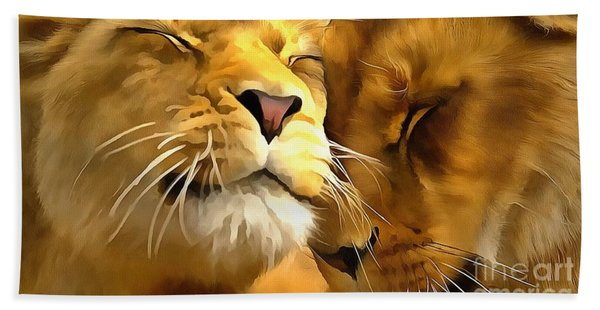Lions In Love Beach Sheet