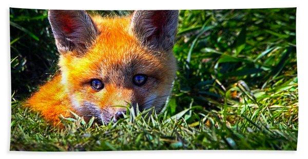 Little Red Fox Beach Towel