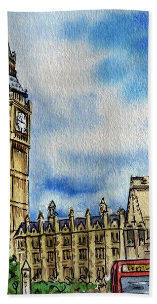 London England Big Ben Beach Sheet