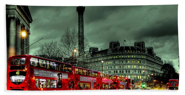 London Red Buses And Routemaster Beach Towel