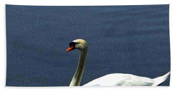 Lonesome Swan Beach Towel