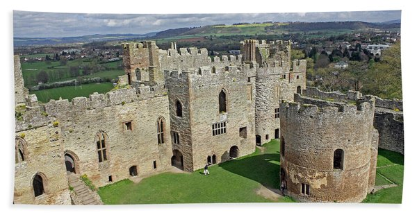 Ludlow Castle Chapel And Great Hall Beach Towel