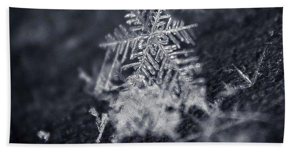 Macro Snowflake Beach Sheet