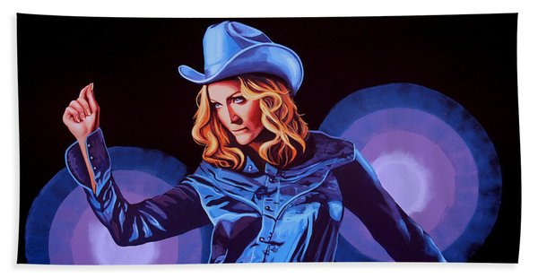 Madonna Painting Beach Towel