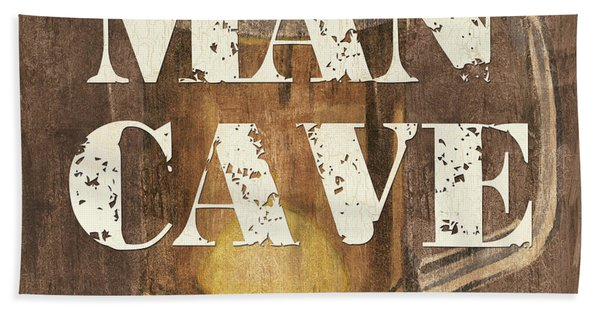 Man Cave My Cave My Rules Beach Towel