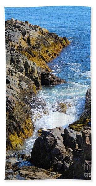 Beach Towel featuring the photograph Marginal Way Crevice by Jemmy Archer