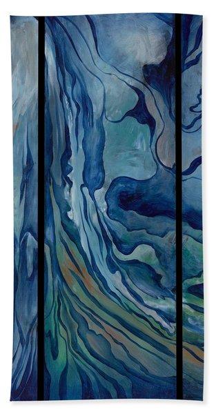 Marina Triptych Beach Towel