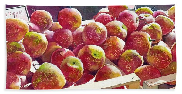 Market Apples Beach Towel