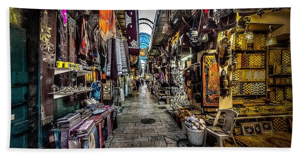 Market In The Old City Of Jerusalem Beach Towel