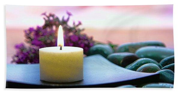Meditation Candle Beach Towel
