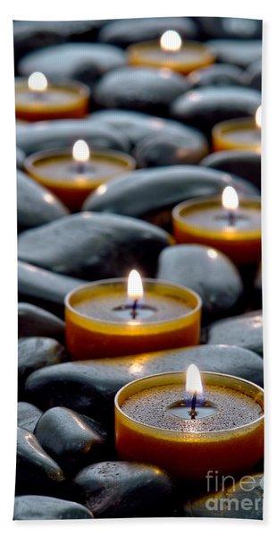 Meditation Candles Beach Towel