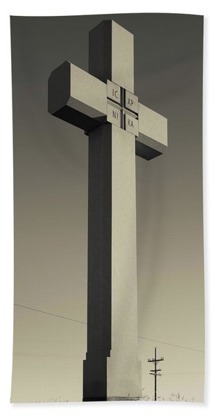 Memorial Cross To Spanish Father Juan Beach Towel