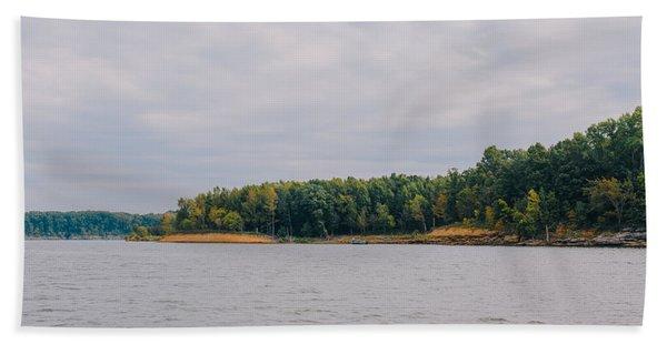 Men Fishing On Barren River Lake Beach Sheet