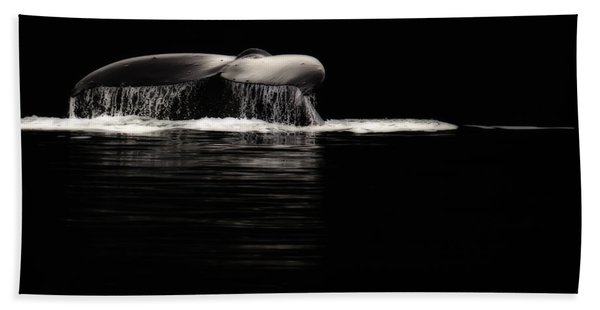 Midnight Humpback Beach Towel