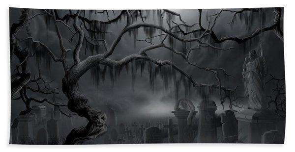 Midnight In The Graveyard  Beach Towel