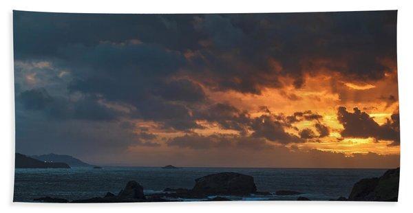 Mirandas Islands Galicia Spain Beach Towel
