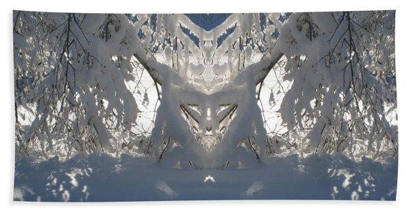 Mirror Of Snow  Beach Towel