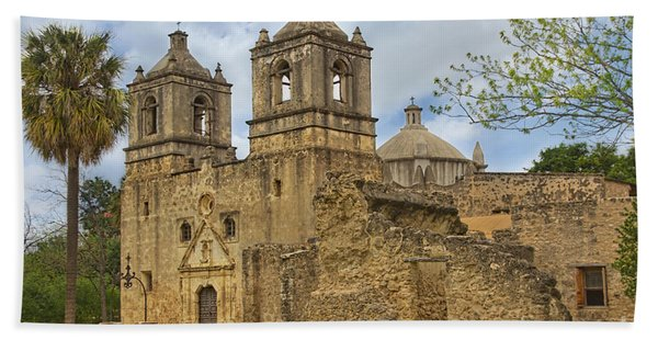Beach Towel featuring the photograph Mission Concepcion by Jemmy Archer