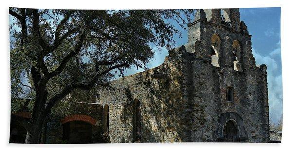 Mission San Francisco De La Espada -- San Antonio Mission Trail Beach Towel