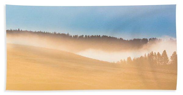 Misty Yellowstone   Beach Towel