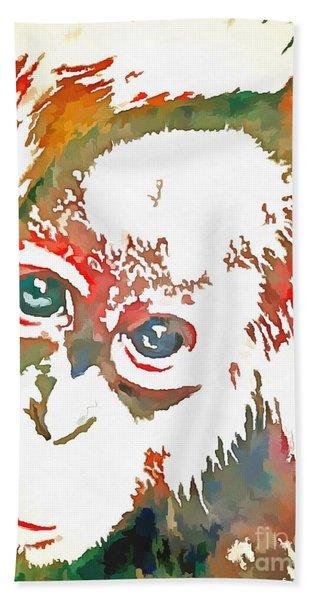 Monkey Pop Art Beach Sheet