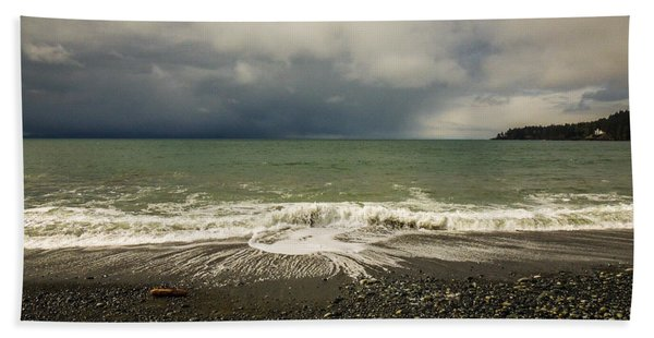 Moody Swirl French Beach Beach Towel