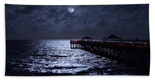 Moon And Sea Beach Towel