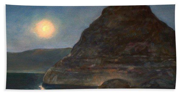 Moonlight On Pyramid Lake Beach Towel