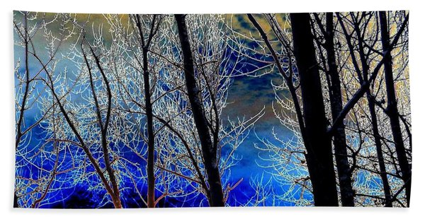 Moonlit Frosty Limbs Beach Towel