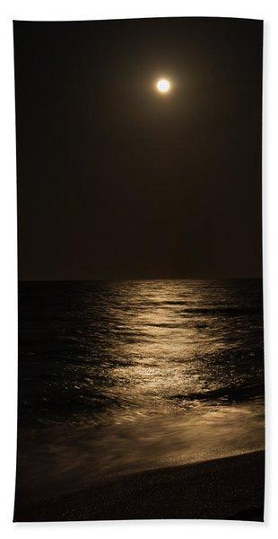 Moon Over Water Beach Towel