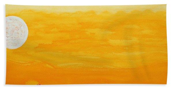Moonshine Original Painting Sold Beach Towel