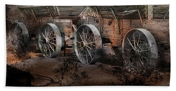 Beach Towel featuring the photograph More Wagons East by Gunter Nezhoda