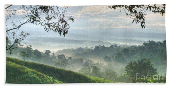 Morning Mist Beach Towel