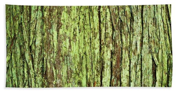 Moss On Tree Bark Beach Sheet